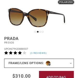 3efbcd5e6d9 Prada Accessories - Prada PR 01OS Polarized sunglasses
